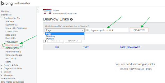 How to Use Bing Disavow Links Tool