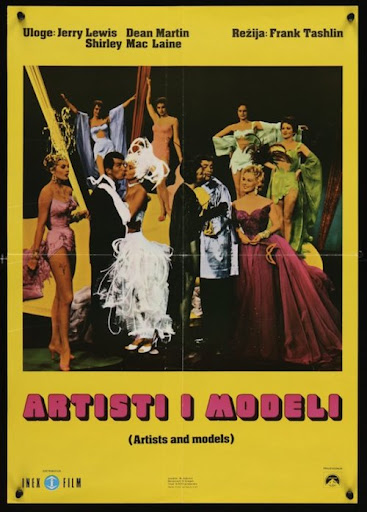 Artists And Models Yugoslavian movie poster (R1972-1955)