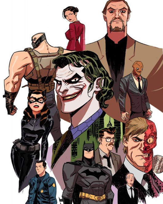 THE DARK KNIGHT Trilogy Fan Art Inspired by Bruce Timm