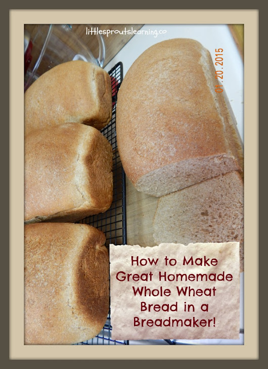 How to Make Great Homemade Whole Wheat Bread with a Breadmaker - Little Sprouts Learning