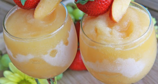 Peach Moscato Wine Slushies
