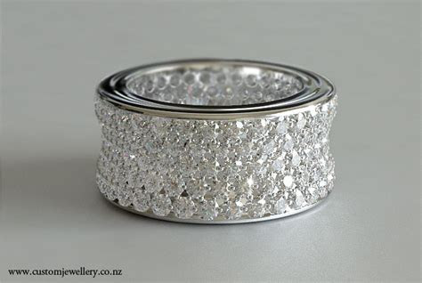 5ctw Diamond Pave Wedding Band in White Gold New Zealand