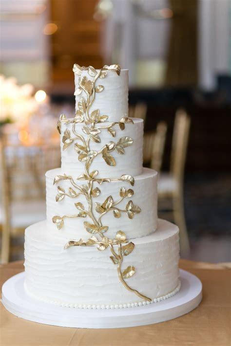 Wedding Cake with Gold Leaf   Elizabeth Anne Designs: The