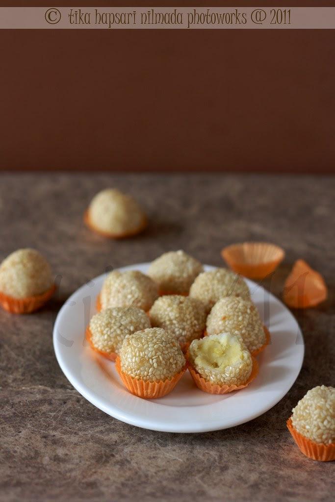 (Homemade) Onde-onde kacang hijau / Javanese style fried sesame seed balls