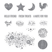 Wood Words Clear-Mount Stamp Set