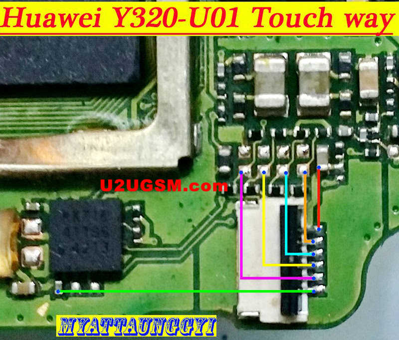 Huawei Y320-U01 touch screen not working problem solution jumpers
