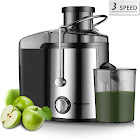 Homeleader Juicer Juice Extractor 3-Speed Centrifugal Juicer with Wide Mouth, for Fruits and Vegetables, BPA-Free