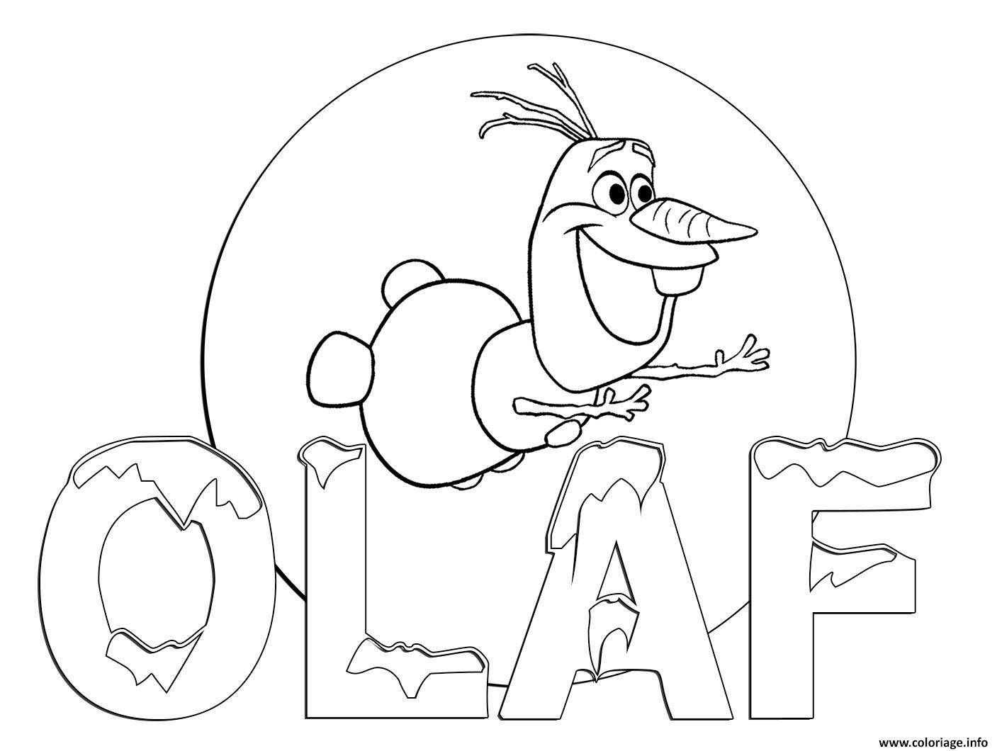 Coloriage Olaf 2017 dans Olaf Frozen Adventure