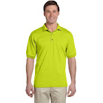 Gildan G880 Adult 6 oz. 50/50 Jersey Polo Shirt in Safety Green