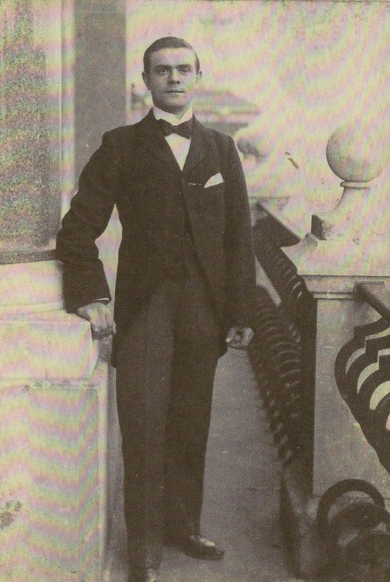 Harry Pask (1879-1933)in 1901 at the Carlton Club, London