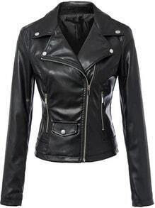 Lapel Zipper Pocket Slim Jacket