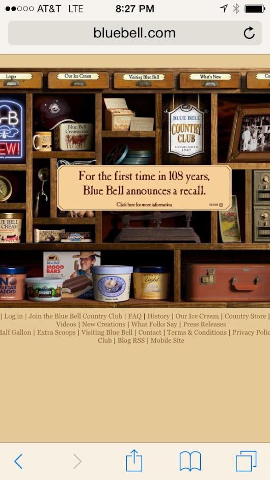 Blue Bell Ice Cream Recall to 3 Departures After Listeriosis Linked