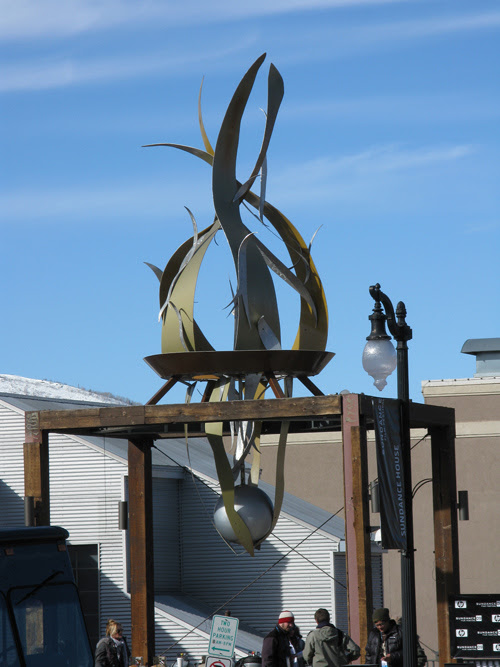 Sterlin Harjo walks near Sundance House, Main Street, Park City, Utah