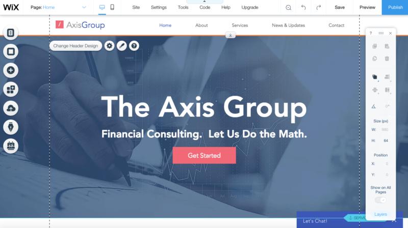 Create a Wix Website step 3