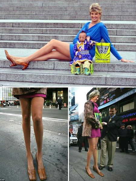 Svetlana Pankratova World's Longest Legs more than 4 feet long