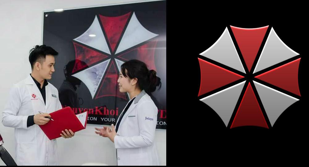 Vietnamese skincare company hijacks Resident Evil's Umbrella logo screenshot