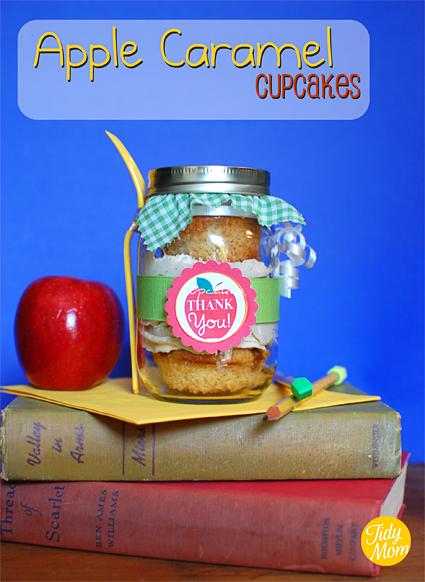 Apple Caramel Teacher Appreciation Cupcakes