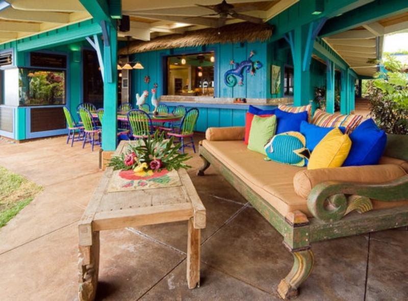colorful bohemian patio