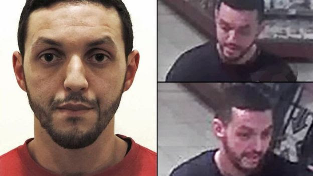 Images of suspect Mohamed Abrini