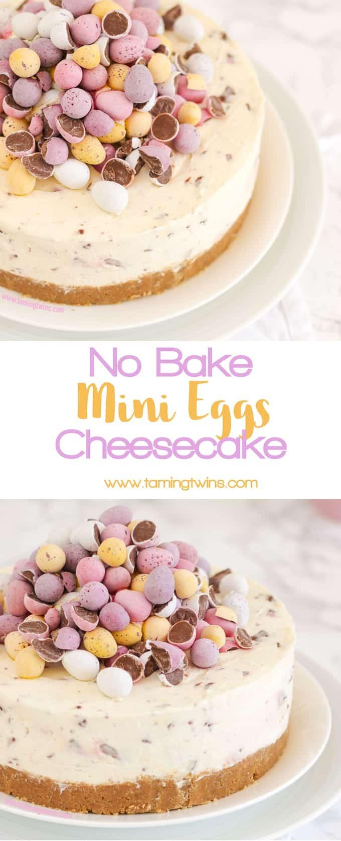 No Bake Mini Egg Cheesecake Recipe - Taming Twins