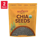 Mayorga Organic Chia Seeds, USDA Organic, NON-Gmo verified, 3lb, 2-pack