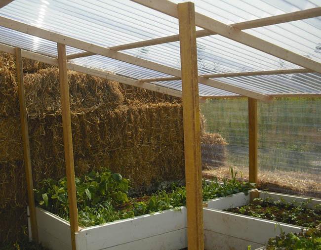 large Straw Bale Greenhouse