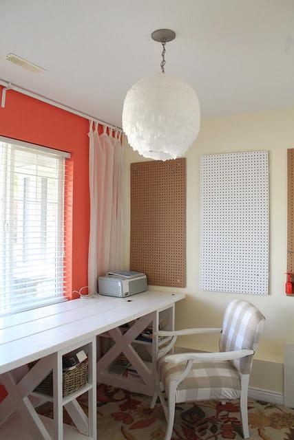 DIY Tissue Paper Light in Office
