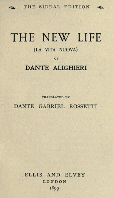 The Project Gutenberg Ebook Of The New Life La Vita Nuova By