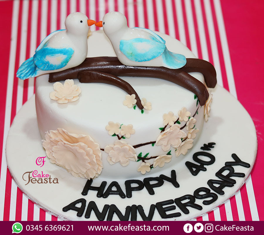 Dove Anniversary Cake Marriage Anniversary Cake Images