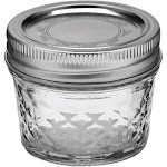 Ball Quilted Crystal Jelly Jars - 12 jars