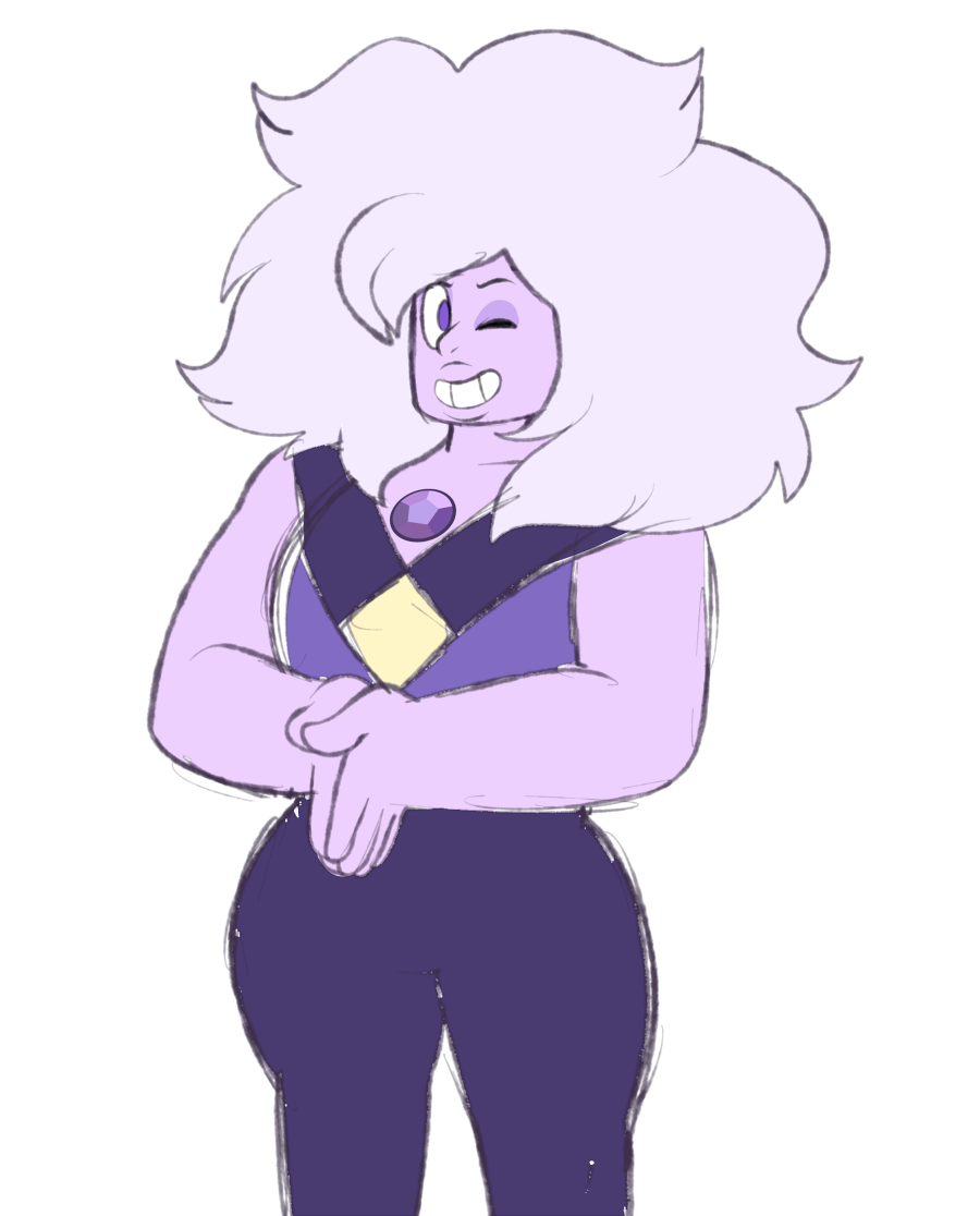 i love this amethyst.. and i'm not saying she has a lightsaber for a weapon.. but i'm not not saying that she has a lightsaber for a weapon