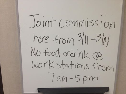 Joint Commission coming humor photo