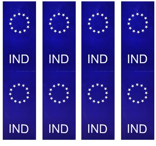 r/india - What's up with all the EU-copycat car license plates lately?