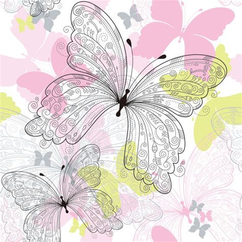 kata kunci kupu kupu indah pola tangan dicat latar