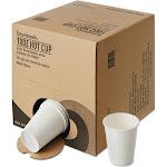 Boardwalk BWKWHT10HCUPOP Convenience Pack Paper Hot Cups, White, 10 oz - 261 count