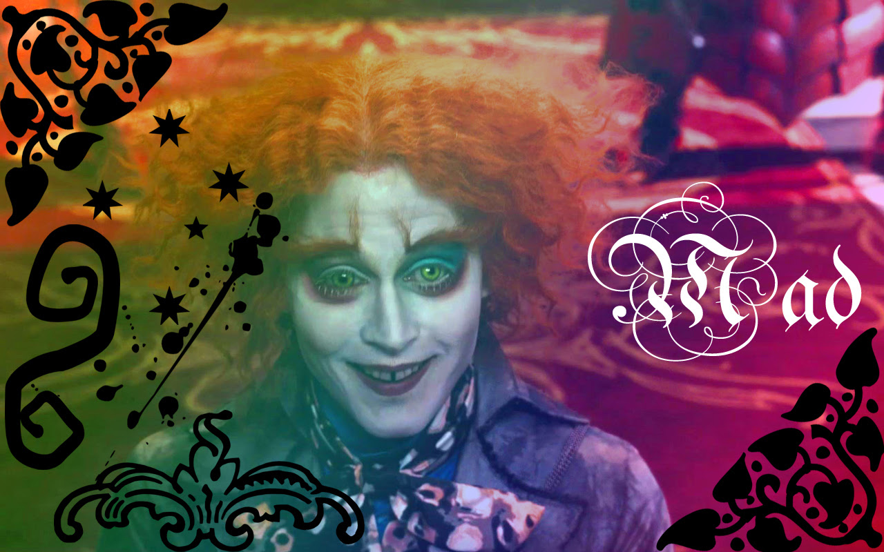 Mad Hatter Wallpaper Mad Alice In Wonderland 2010 Wallpaper