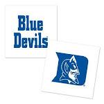 Duke Blue Devils Temporary Tattoo - 4 Pack