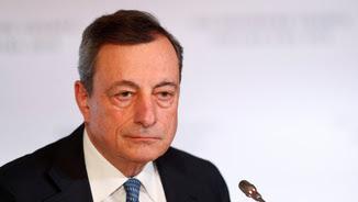 El president del BCE, Mario Draghi, en la roda de premsa d'aquest dijous (Reuters)