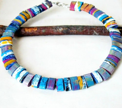 tribal-paper-bead-necklace