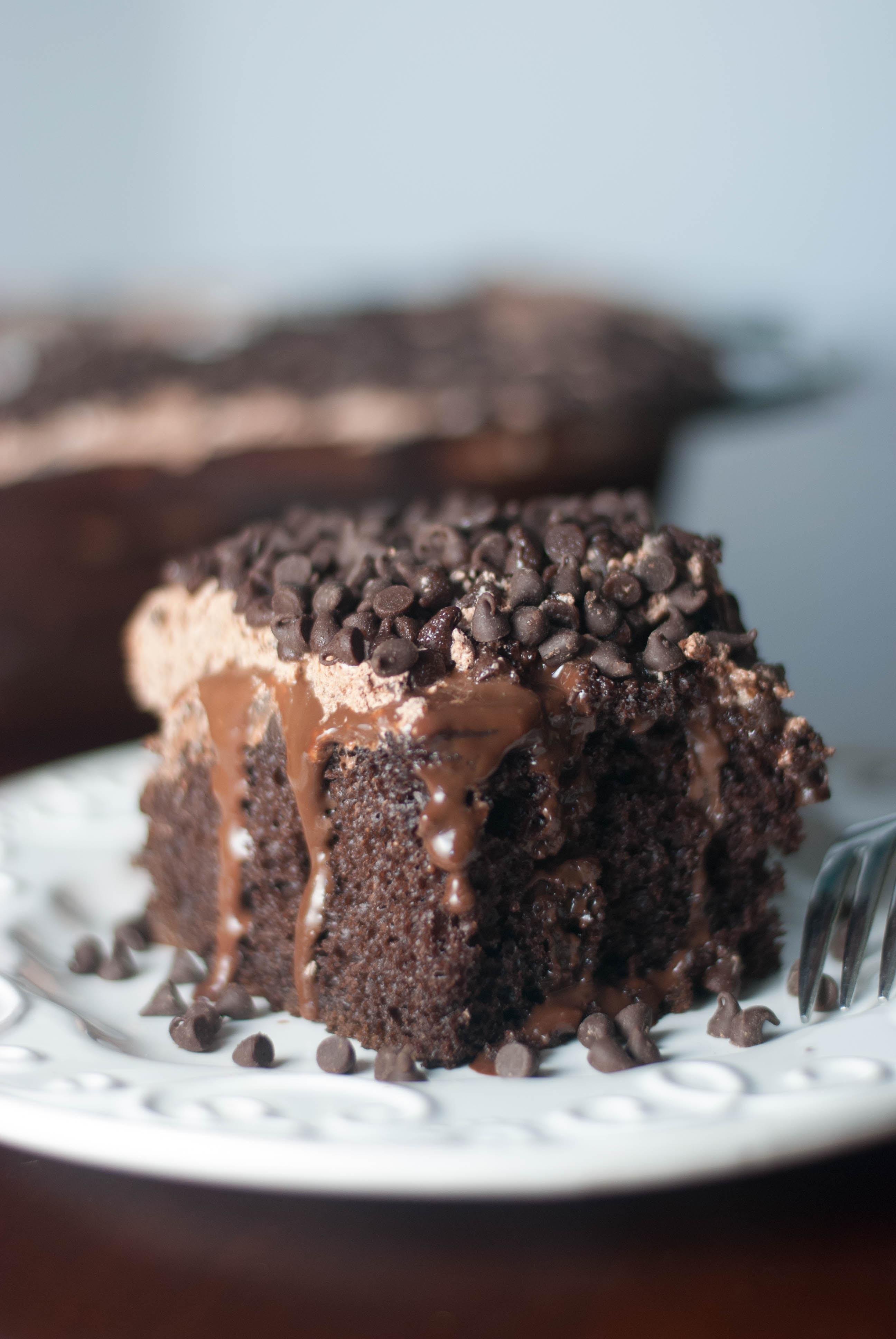Chocolate Pudding Poke Cake - TGIF - This Grandma is Fun