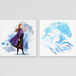 Frozen 2 2pk Glitter Embellished Canvas Wall Decor, Women's