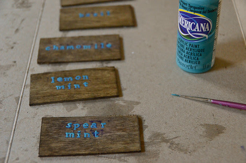 Plant Markers 2 - Paint Stamped Names (3x)