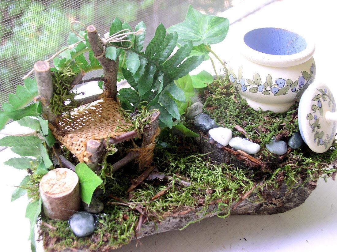 Woodland Fairy Chair and Trinket Box