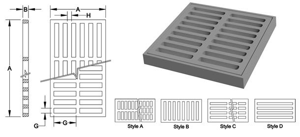 Products Square Rectangular Frames Grates Deeter Foundry