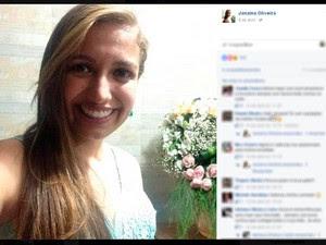 Janaína morreu após o Ônibus capotar (Foto: Reprodução/Facebook)