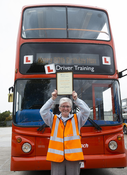 In Pictures: Grandmother Celebrates 80th Birthday By Driving a Bus