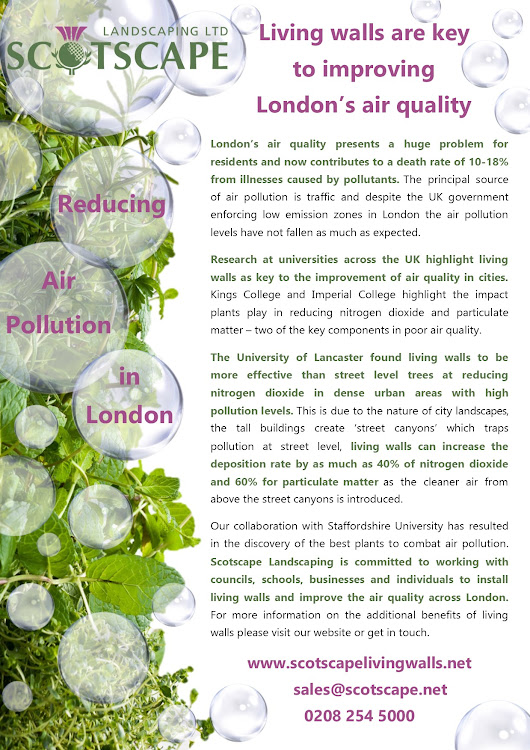 Living walls are key to improving London's air quality