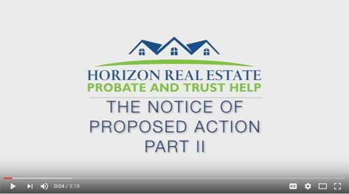 The Notice of Proposed Action Part 2