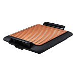 Gotham Steel 6575096 14 x 16 in. As Seen on TV Nonstick Surface Indoor Cooking Grill Black & Copper
