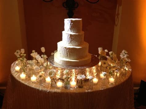 Cake table decor Bud vases and votives   Flower Box